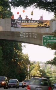 Banner Drop on Aurora Blvd.