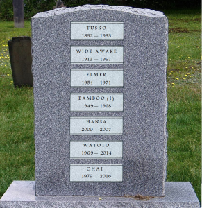 tombstone for zoo elephants